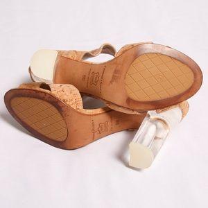 Donald J. Pliner Shoes - Donald J Pliner Manda Cork Lucite Heel Sandal